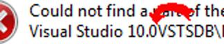 Visual Studio Error Directory